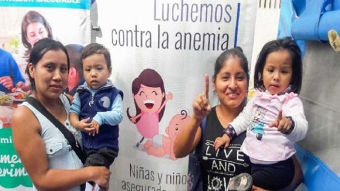 anemia callao meta es suplementar a mas de 23 mil niñas y niños