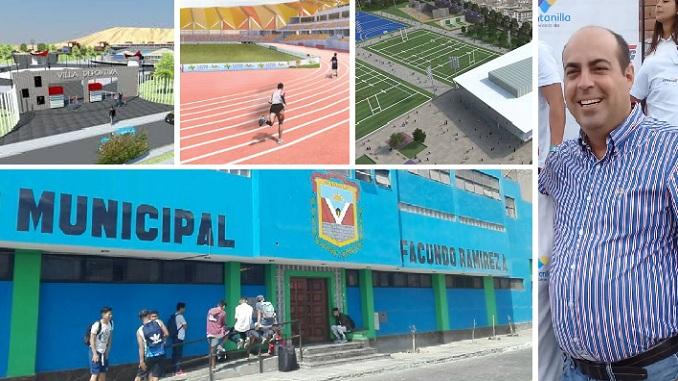 anuncian tres villas deportivas y remodelacion de estadio facundo ramirez de ventanilla