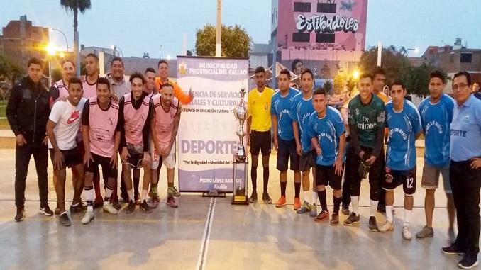 prensa la eskina callao ventanilla club juventud estibadores ganaron copa fulbito en callao norte